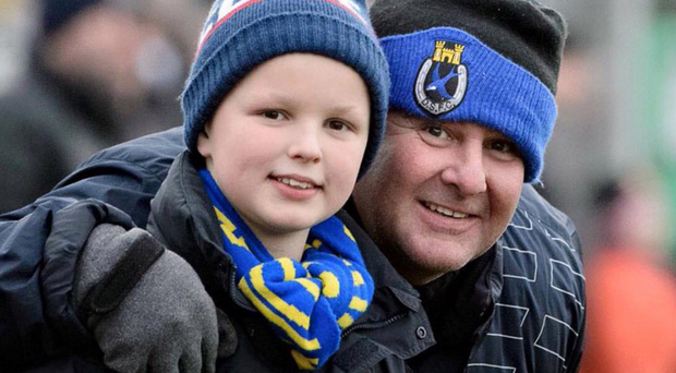 Stephen Moffett with his son George