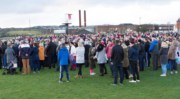 Vigil in memory of those who lost their lives in the tragedy in Buncrana last Sunday