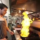 Chef Connor McGuigan in the beachfront restaurant