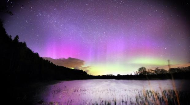 The aurora borealis in all its splendour over Killyleagh Lough outside Maghera, captured by Martin McKenna