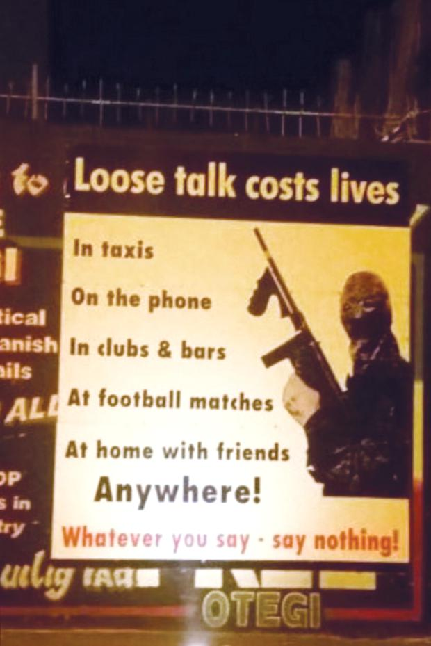 The flyer posted in west Belfast