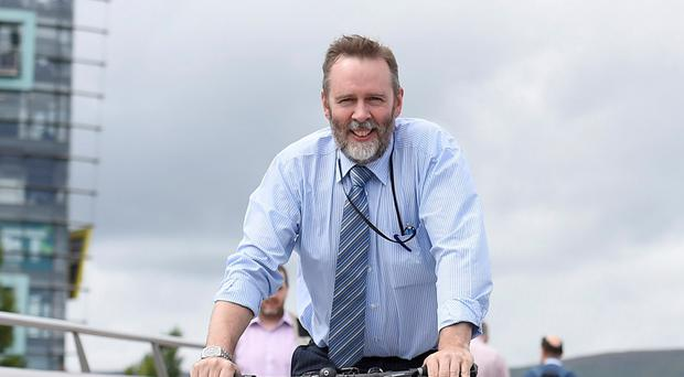 Andrew Grieve on his daily commute in Belfast