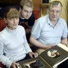 Parents Linda Brown and Philip Smyth with Nichola's brother Gareth
