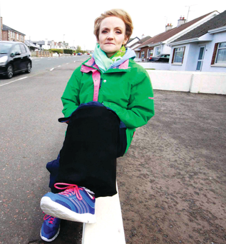 Violet McAfee returns to the spot on Station Road where she was almost killed at last year's North West 200