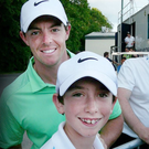 Tom McKibbin and Rory McIlroy