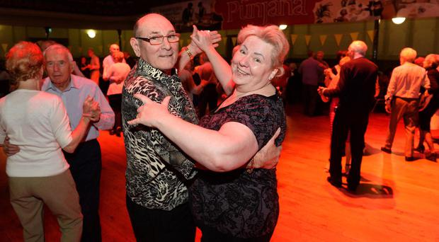 Sandra and Billy McKee enjoy a dance