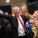 Richie McPhillips enjoys the moment after being elected