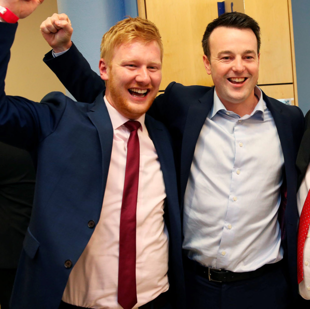 Mr McCrossan (left) with SDLP leader Colum Eastwood