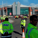 Security staff move in at Old Trafford