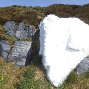 The stone as it looks today after the graffiti was removed
