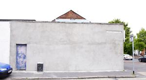 The Healy mural is now a blank wall