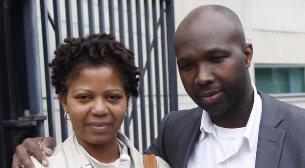 Feliciano and Maria Jose Saba at the inquest into the death of their son Bryan who died after being caught in a cord