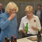 The Duchess of Cornwall is treated to a tipple