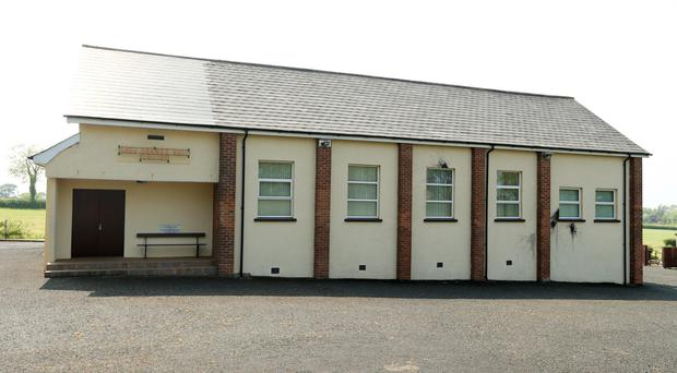 The Orange hall at Crewe Road in Upper Ballinderry was hit by paint bombs