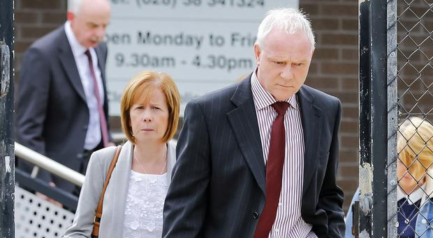 Louise and Victor McMinn at the inquest in Craigavon yesterday