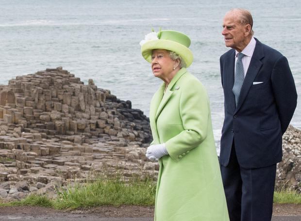 The Queen and Prince Philip at the Giant's Causeway