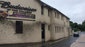 Buildings in Crossgar hit by the effluent included the Villager pub