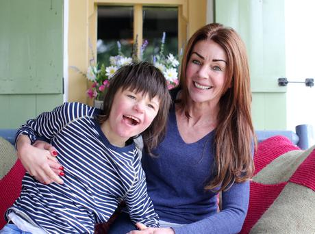 Charlotte Caldwell and her son Billy at their home in Castlederg