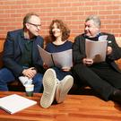 Director Jimmy Fay, actor Ali White and playwright Owen McCafferty