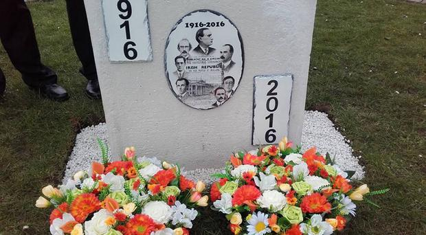 The illegal 1916 memorial which was removed by the Mid and East Antrim Borough Council in Carnlough