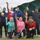 Ulster Visually Impaired Tennis Club (back row from left), coach Michael Blease, Gary Brooker, Stephen Campbell, Andrea Hope, coach Davinder Kapur and (front row from left) Patricia McKnight, Debbie Shaw and coach Simon McFarland