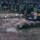Michelle Marshall got trapped in mud and sand while visiting her son's grave in Ballyvester Cemetery, Donaghadee, on New Year's Eve
