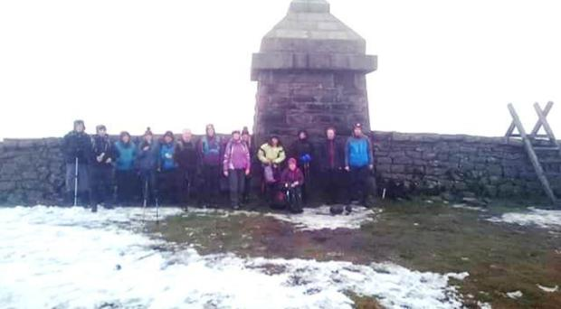 Northern Ireland Young Walkers At Slieve Commedagh on New Year's Eve