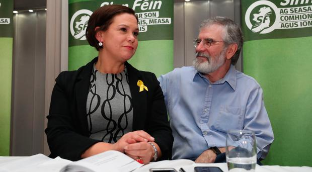 Mary-Lou McDonald and Gerry Adams
