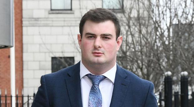 Rory Harrison leaves court in Belfast yesterday