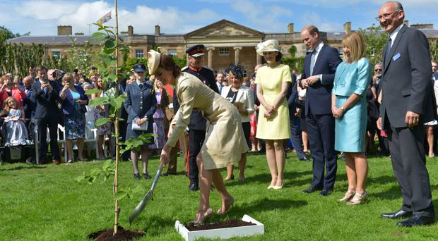 The Duke and Duchess of Cambridge at Hillsborough Castle in 2016