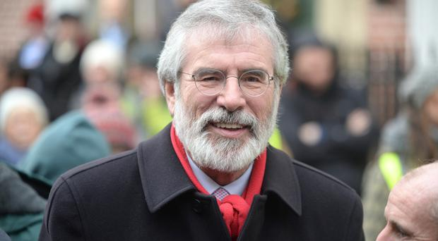 No candidacy: Gerry Adams