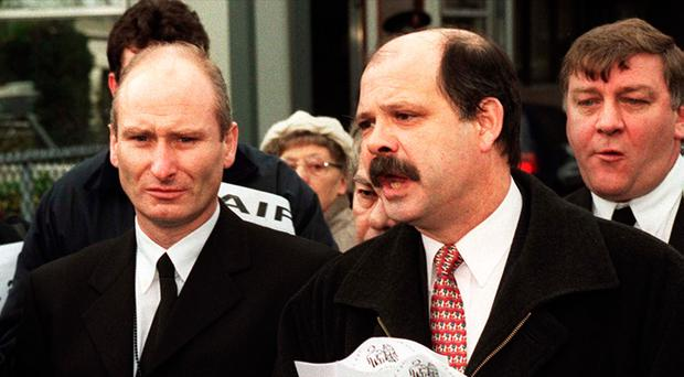 Billy Hutchinson with former PUP leader David Ervine in 1999