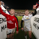 Ulster's Stuart Olding and Paddy Jackson (right) at Kingspan Stadium after a match