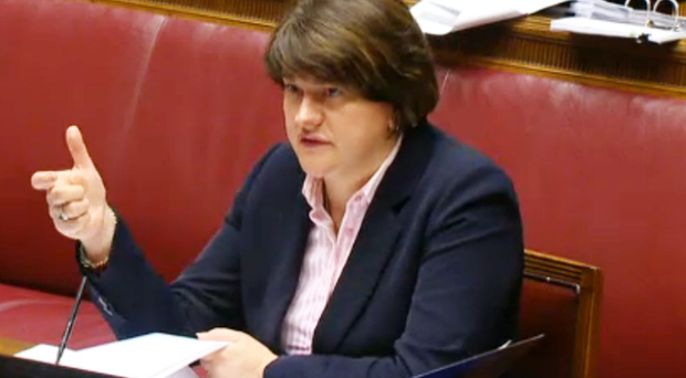 Arlene Foster giving evidence at the inquiry