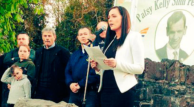 Orfhlaith Begley at hunger strike commemoration