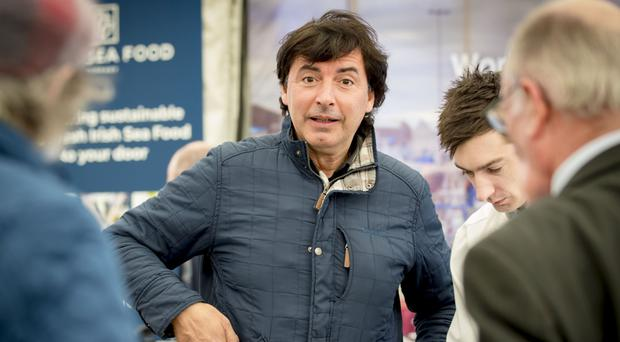 Chef Jean-Christophe Novelli at the Balmoral Show yesterday