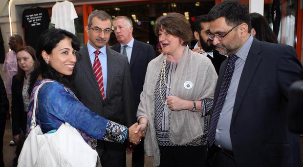 Arlene Foster at an event to mark the end of Muslim holy month of Ramadan