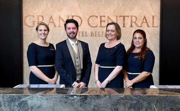 Members of the hotel staff