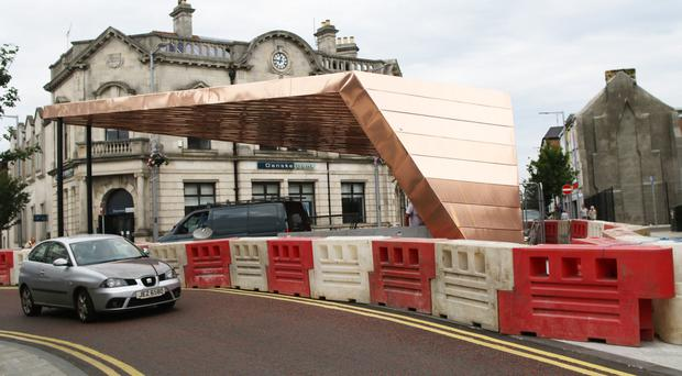 The new bandstand in Ballymena