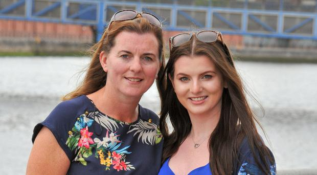 Mother-of-five Anna Marie Maguire, who graduates today with a degree in accounting from the Ulster University, with her daughter Cliodhna