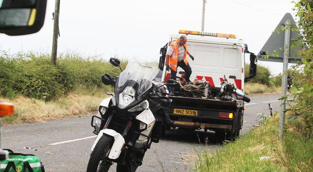 Sam Graham was involved in a crash near Ballycastle late on Saturday afternoon