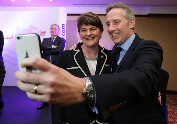 Ian with Arlene Foster after she was made DUP party leader