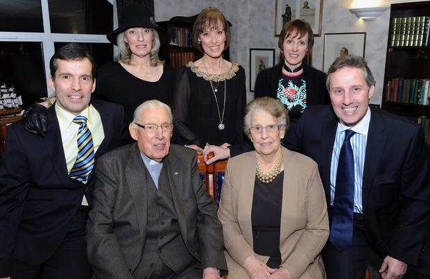 A family picture of the late Ian Paisley and wife Eileen with daughters Sharon, Cherith and Rhonda and twin sons Kyle (left) and Ian in 2012