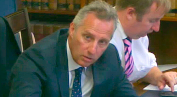 DUP MP Ian Paisley at the Northern Ireland Affairs Committee at Parliament Buildings