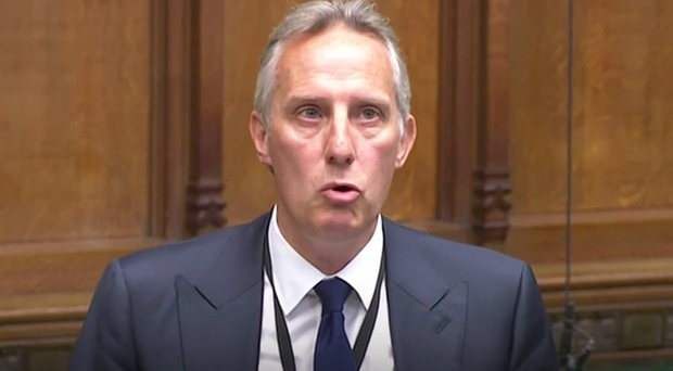 Ian Paisley addresses the House of Commons yesterday