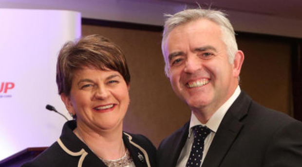 Arlene Foster and Jonathan Bell in December 2015