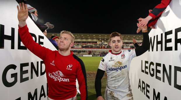 David Nucifora has said the door is not closed on a return for Stuart Olding and Paddy Jackson (right).