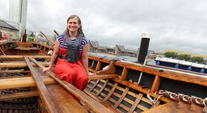Niamh Scullion was given a Points of Light award for the boat that was launched on the Lagan in 2017 and has been used by 1,000-plus people