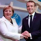 German Chancellor Angela Merkel and President of France Emmanuel Macron