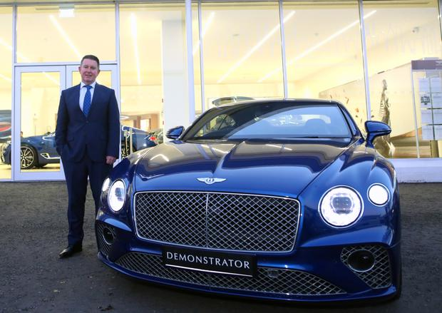 Jeff McCartney Charles Hurst sales operations director with the Bentley Continental GT